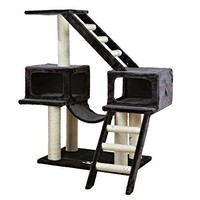 TRIXIE Malaga Cat Tree Playground in Dark Gray with 2 Condos