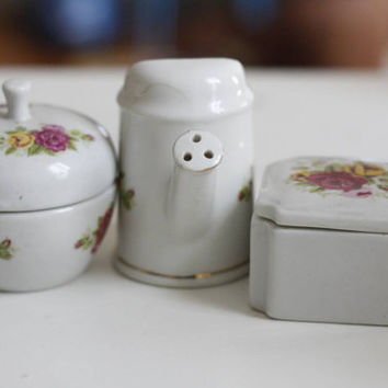 FREE SHIPPING..... A Set Of Three Porcelain Knick-knacks