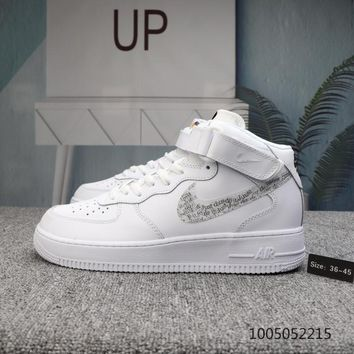 DCCK N544 Nike Air Force 1 LV8 Mid Just Do It Lntc Skate Shoes White