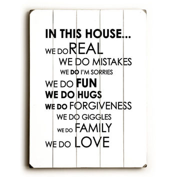 In This House by Artist Amanda Catherine Wood Sign