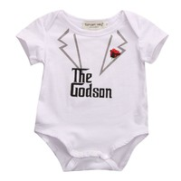 100% Cotton Newborn Baby Romper Clothes 2017 Summer Short Sleeve The Godson Infant Bebes Playsuit Toddler Kids Jumpsuit Outfits