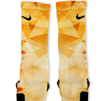 Orange Prism Custom Nike Elite Socks
