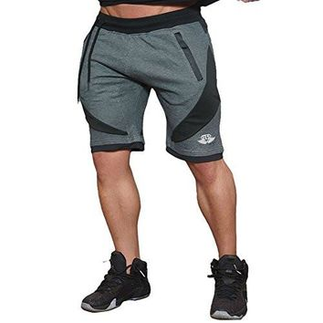 EU Men's Workout Active Shorts Gym Jogger Shorts Running Bodybuilding with Pockets