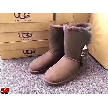 """UGG"" Fashionable Women Tassel Warm Wool Snow Boots High Long Boots 5#"
