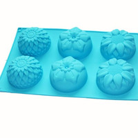 X-Haibei Sunflower Chrysanthemum Soap Chocolate Muffin Cupcake Mold Silicone for Homemade