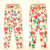 Moschino floral print cigarette pants