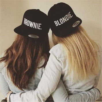 BLONDIE BROWNIE Snapback Caps Embroidery Fashion High Quality Women Gifts Baseball Caps Sun Hip Hop Adjustable Street Dance Hats
