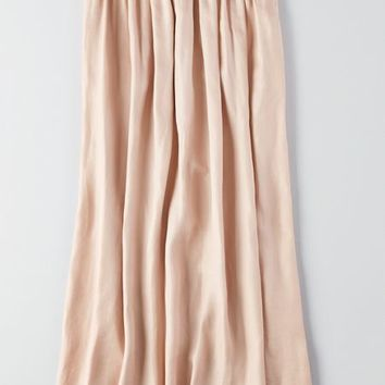 AEO Women's Crinkle Pleated Maxi (Blush)
