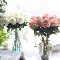 1Pc Artificial Fake Rose Flower Garden Home Wedding Bridal Party Decoration