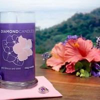 Wild Hibiscus and Violet Ring Candle