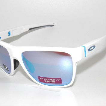 OAKLEY SUNGLASSES CROSSRANGE XL 9360-08 POLISHED WHITE PRIZM SAPPHIRE SNOW