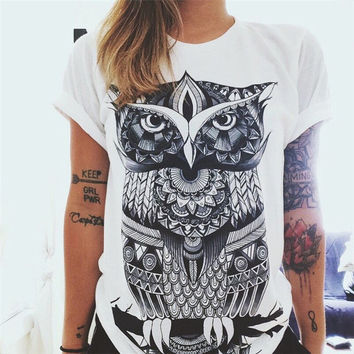 OWL  Graphic Tees Women T-shirt