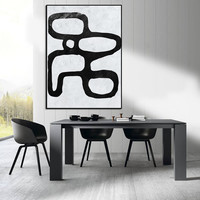 Extra Large Painting, Large Canvas Art. modern wall Art, contemporary Art Abstract Painting Black and White canvas Art.