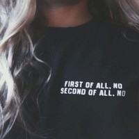 """Ulzzang """"First Of All' T-shirt"""