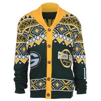 Green Bay Packers NFL 2015 Ugly Knit Cardigan Holiday Sweater