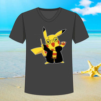 pikachu harry potter - tshirt S,M,L,XL