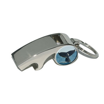 Humpback Tail - Ocean Whale Watching Whistle Bottle Opener Keychain
