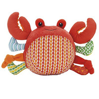 wowowo(TM) High-end Cute Squeaker Plush Dog Toy, Short Plush&Cotton, Crab, Red