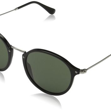 Ray-Ban Men's 0RB2447 Round Sunglasses Black 52 mm