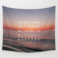 Spirit Lead Me Wall Tapestry by Zeke Tucker