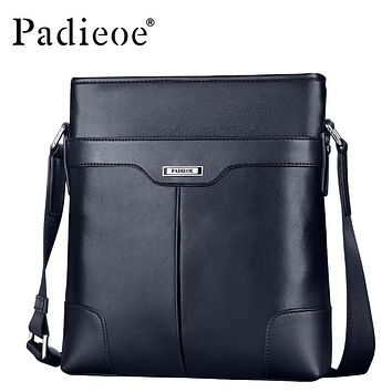 Fashion Vintage Leather Messenger Bag Genuine Real Cow Leather Men's Handbags High Quality Man Shoulder Bag