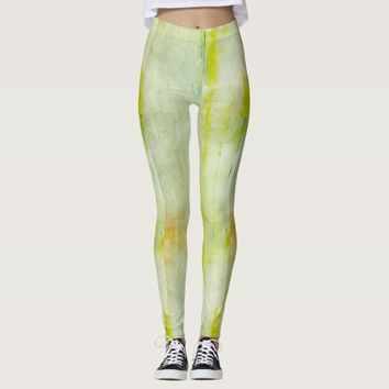 Faded Greenish Yellow Women's Leggings