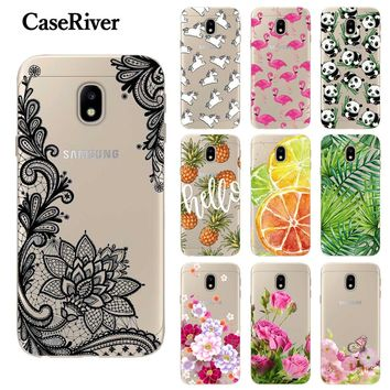 CaseRiver Soft TPU FOR Capa Samsung Galaxy J7 2017 Case Cover J730 EU Version Painting Phone Back FOR Funda Samsung J7 2017 Case