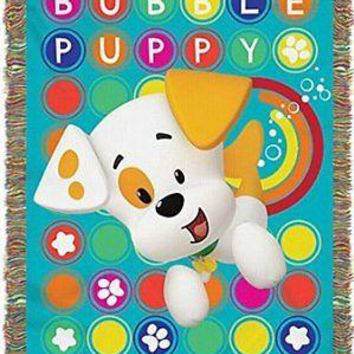 Nickelodeon Bubble Guppies Puppy Pop 48x60 Woven Tapestry Throw FREE US SHIPPING