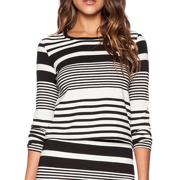 Trina Turk Ana Top in Black & White