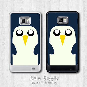 Samsung Galaxy S2 case - Cute Penguin - galaxy S2 cover, Black / Clear hard SII case