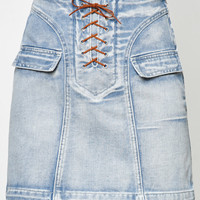 Somedays Lovin Ode Ice Lace-Up Denim Skirt at PacSun.com