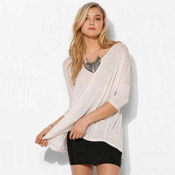 Fashion Casual Loose Quarter Sleeve Round Necked Handkerchief T-Shirt Top _ 1610