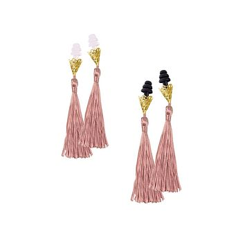 BREAKFAST AT TIFFANY'S INSPIRED DUSTY ROSE TASSEL SLEEPING EARPLUGS