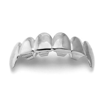 Silver Plated Dracula Premium Grillz