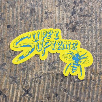 Super Supreme Sticker Yellow