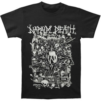 Napalm Death Men's  Hope T-shirt Black Rockabilia