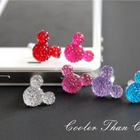 Cute Mickey Sparkle Dust Plug/ Cell Phone by CoolerThanCool