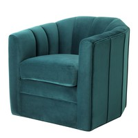 Green Velvet Swivel Chair | Eichholtz Delancey