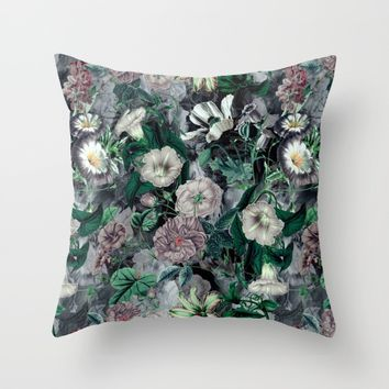 Floral Camouflage VSF016 Throw Pillow by VS Fashion Studio