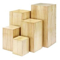 Chic Wooden Pedestals - Set of 5