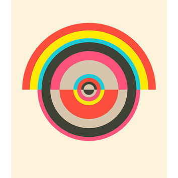Around in Circles 005, Original Art Print, Geometric, Abstract, Target