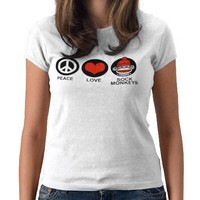 Peace Love Sock Monkeys T Shirt from Zazzle.com
