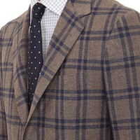 Plaid-Pattern Two-Button Sportcoat