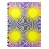 Geometric Abstract Yellow Purple Pink Spiral Notebook