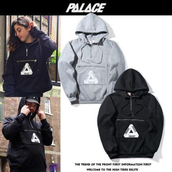 PALACE Classic triangular sweater men and women couples plus cashmere jacket
