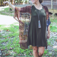 Always Cute Dress in Olive