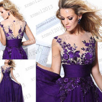 Long Chiffon Wedding Evening Formal Party Ball Gown Prom Bridesmaid Dress 2-16