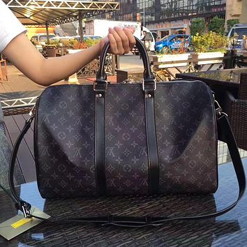 LV Louis Vuitton NEW HOT FASHION MONOGRAM LEATHER LARGE TRAVEL BAG