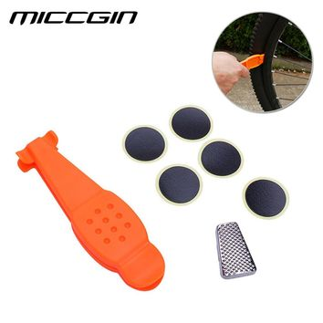 MICCGIN 3 in 1 Bicycle Tire Repair Kits Ultra Lightweight Portable Tire Stick Sickle Tire Mend Patchs Bike Cycling Accessries
