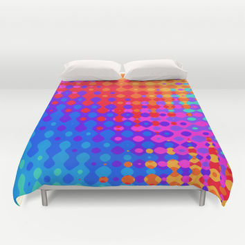 Hippy Trippy Pattern Duvet Cover by Kirsten Star